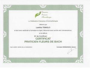 Attestation - Praticien fleurs de Bach