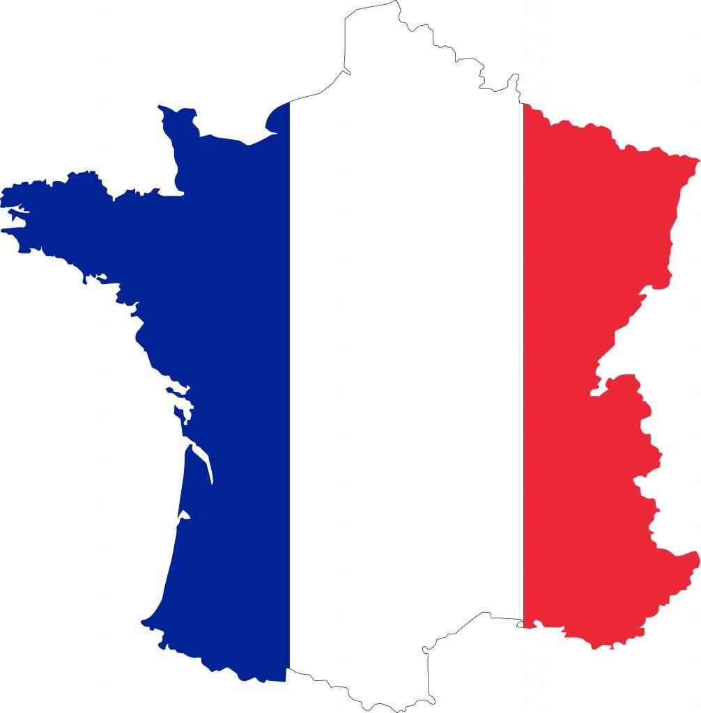 carte de France tricolore